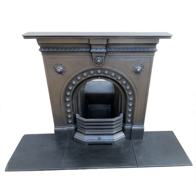 "BED121 - Small Arched Original Bedroom Fireplace (42.5""H x 42""W)"