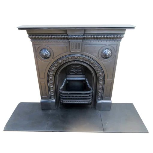 Small Original Arched Bedroom Fireplace