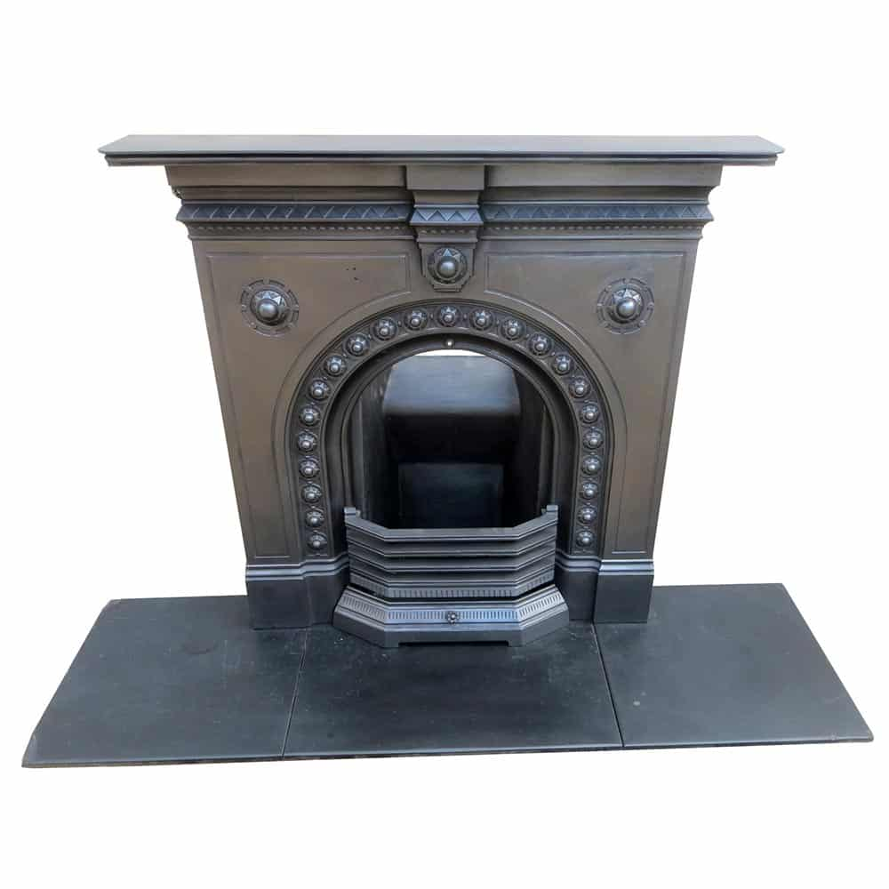 Small Arched Original Bedroom Fireplace Victorian