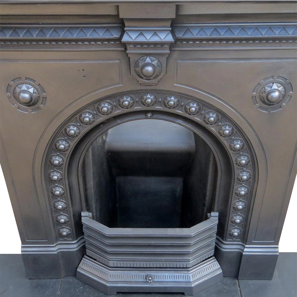 Small Arched Original Bedroom Fireplace