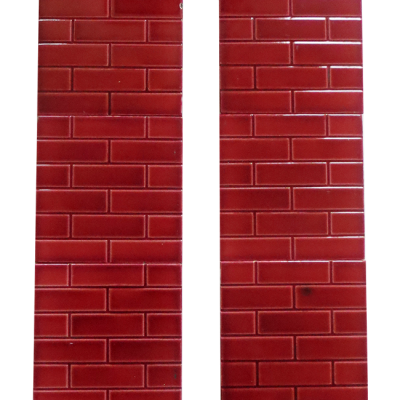 OT146B - Vintage Fireplace Tiles with Red Brick Design