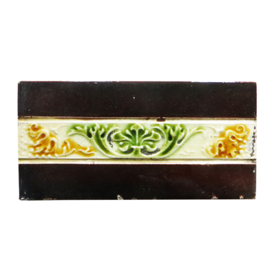 Fireplace Tiles with Floral Design