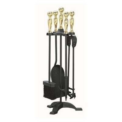 Manor Companion Set in Black/Brass/Pewter