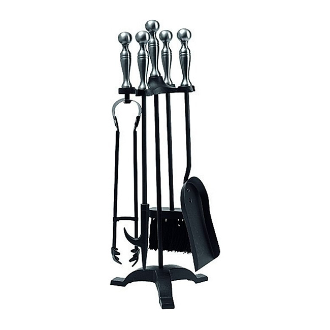 Buy Gallery Manor Companion Set In Black Brass Pewter