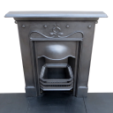"""BED127 - Matching Cast Iron Antique Bedroom Fireplace (#1) (39.5""""H x 32""""W)"""