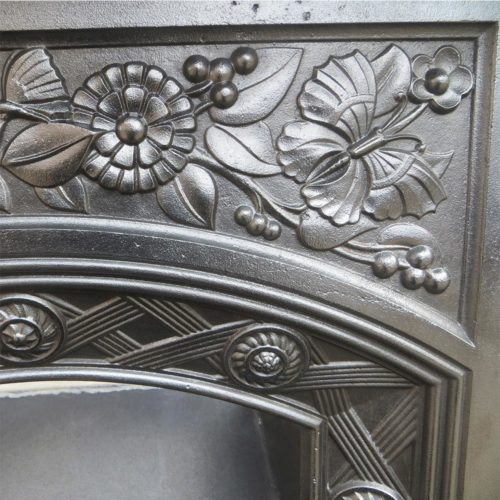 Floral Cast Iron Antique Bedroom Fireplace