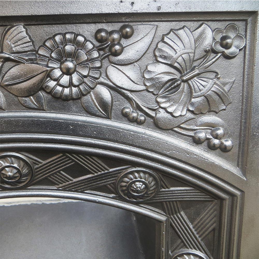 Antique Vintage Bedroom Fireplace: Floral Cast Iron Antique Bedroom Fireplace