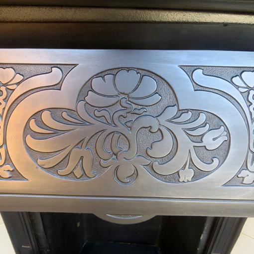 Stunning Floral Cast Iron Fireplace Insert
