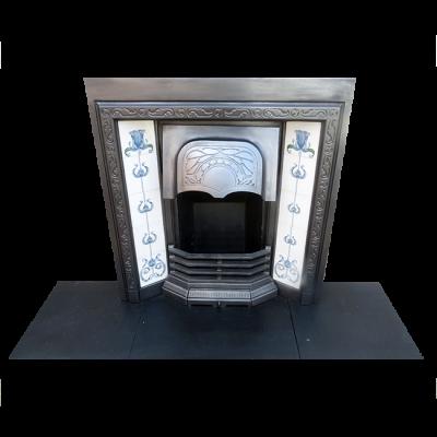 INS244 - Uniquely Designed Cast Iron Fireplace Insert (38″H x 36″W)