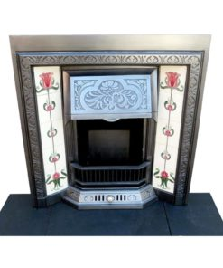 Stunning Floral Cast Iron Fireplace Insert