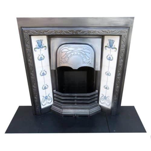 Uniquely Designed Cast Iron Fireplace Insert