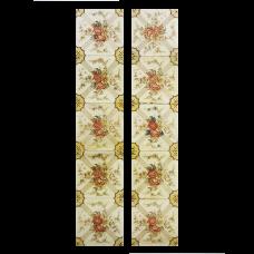 OT019 - Antique Floral Symmetrical Fireplace Tiles