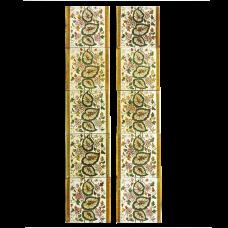 OT037 - Antique Original Floral Fireplace Tiles