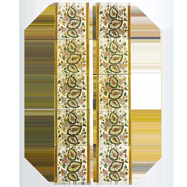 Buy Antique Original Floral Fireplace Tiles