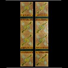 OT040 - Antique Original Embossed Fireplace Tiles