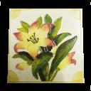 OT042 - Original Antique Watercolour Floral Fireplace Tiles