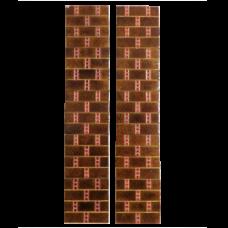 OT043 - Original Antique Brown Brick Fireplace Tiles