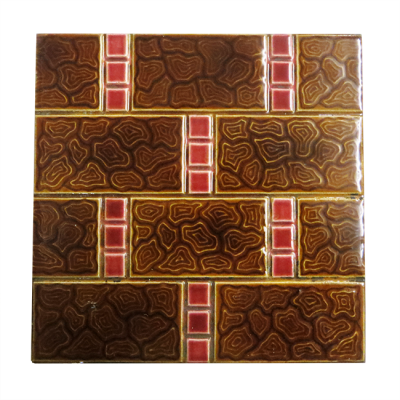 Original Antique Brown Brick Fireplace Tiles