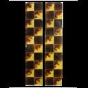 OT045 - Original Antique Square Pattern Fireplace Tiles