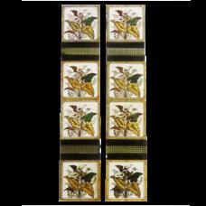 OT052 - Original Antique Ivy Leaf Fireplace Tiles