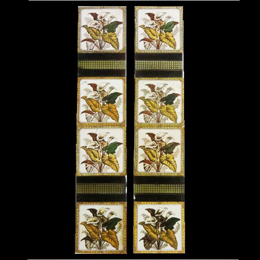 Original Antique Ivy leaf Fireplace Tiles