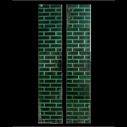 Antique Edwardian Green Brick Fireplace Tiles