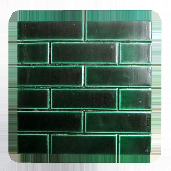 Buy Antique Edwardian Green Brick Fireplace Tiles
