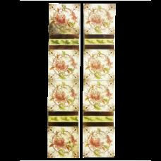 OT069 - Antique Original Floral Fireplace Tiles