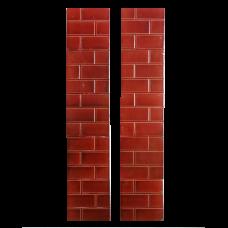 OT071 - Antique Original Red Brick Fireplace Tiles