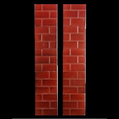 Antique Original Red Brick Fireplace Tiles