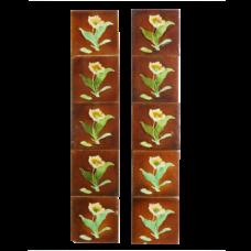 OT084 - Original Antique Glazed Biscuit Fireplace Tiles