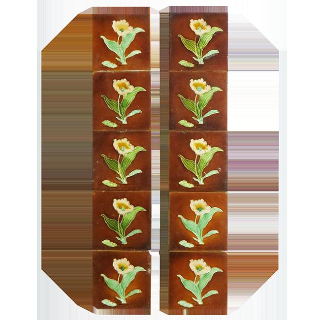 Buy Original Antique Glazed Biscuit Fireplace Tiles