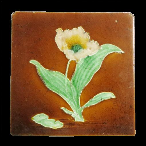 Original Antique Glazed Biscuit Fireplace Tiles