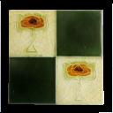 OT164 - Original Antique Square Fireplace Tiles