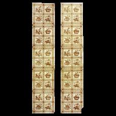 OT197 - Original Antique Floral Square Fireplace Tiles