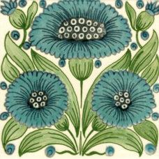 William De Morgan Bedford Park Daisy Tile (3 colours) (ST003)