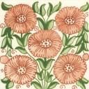 William De Morgan Bedford Park Anenome Tile (3 Colours) (ST004)
