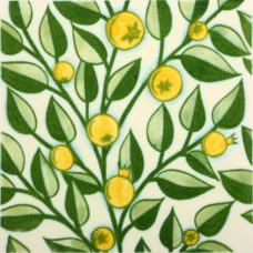 William De Morgan Yellow Fruit Tree Tile (ST010)