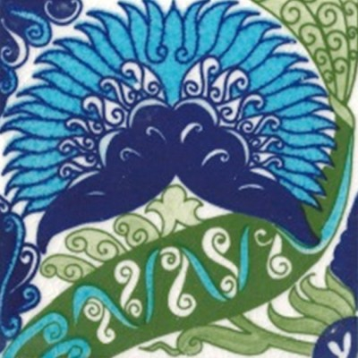 William De Morgan Persian Floral Tile