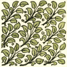 William De Morgan Flying Leaves Tile (ST012)