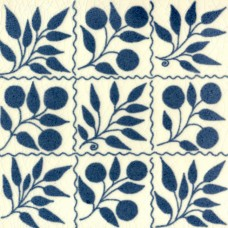William De Morgan Small Fruit Bough Tile (A/B) (ST013)
