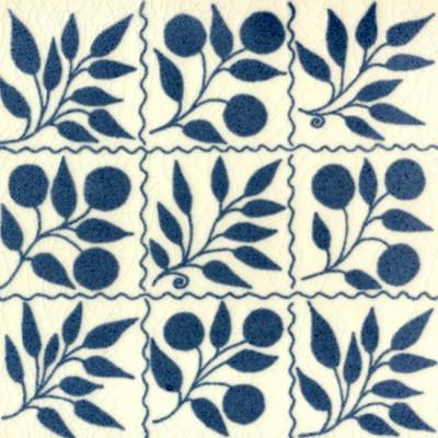 William De Morgan Small Fruit Bough Tile (A/B) (ST013)