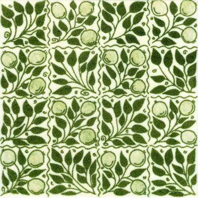 William De Morgan Fruit Bough Tile