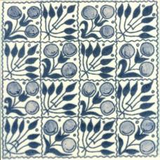 William De Morgan Fruit Chequer Tile (ST015)