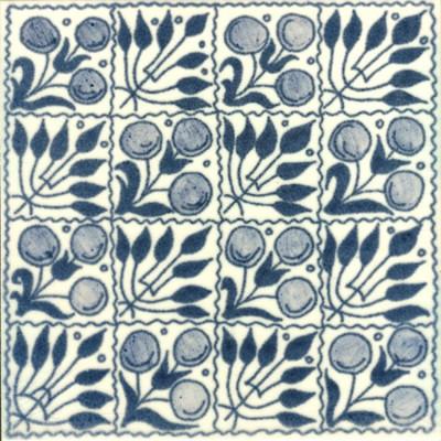 William De Morgan Fruit Chequer Tile