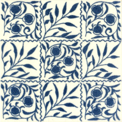 William De Morgan Small Bough Tile (A/B) (ST016)