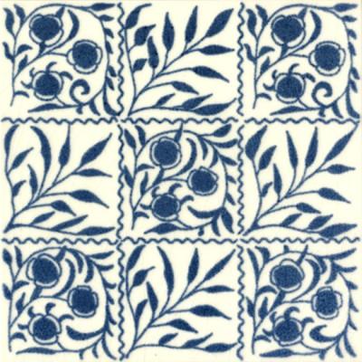 William De Morgan Small Bough Tile