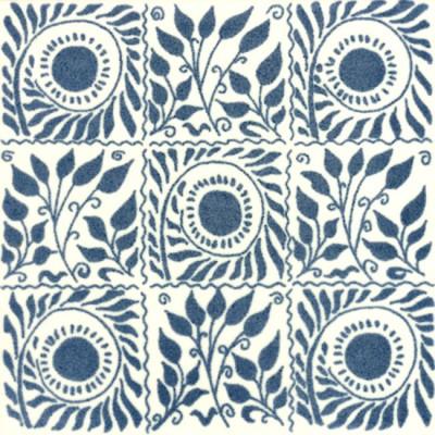 William De Morgan Small Scroll Bough Tile (A/B) (ST017)