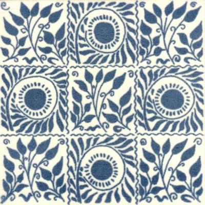 William De Morgan Small Scroll Bough Tile