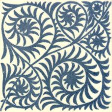 William De Morgan Scroll Pattern Tile (A/B) (ST018)